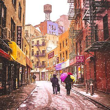 Una colorida tormenta de nieve - Nueva York de vgucwaphoto