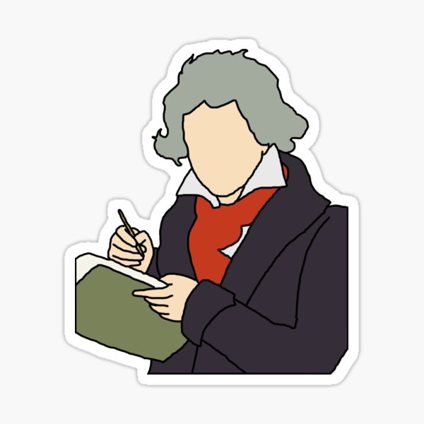 Beethoven Illustration Sticker