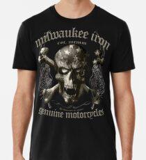 Milwaukee iron motorcycles skull Motorrad Premium T-Shirt