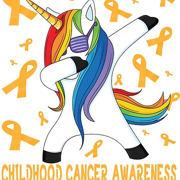 Funny childhood cancer awareness t-shirt - NEW dabbing unicorn warrior tee shirt by mirabhd