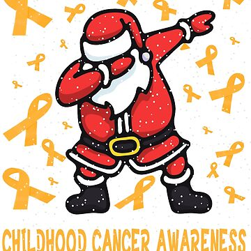 Funny childhood cancer awareness T-shirt - NEW dabbing santa claus warrior tee shirt by mirabhd