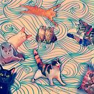 The wave of Cats by Edgot Emily Dimov-Gottshall