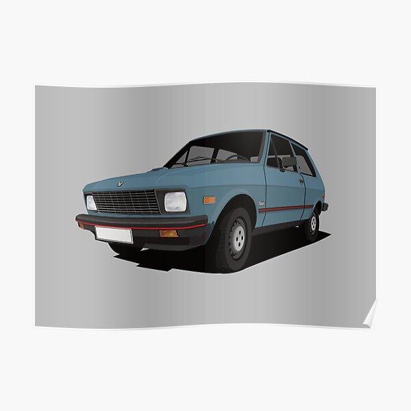 Yugo car - blue - US version Poster