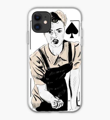 Wartime Land Girl Queen of Spades iPhone Case