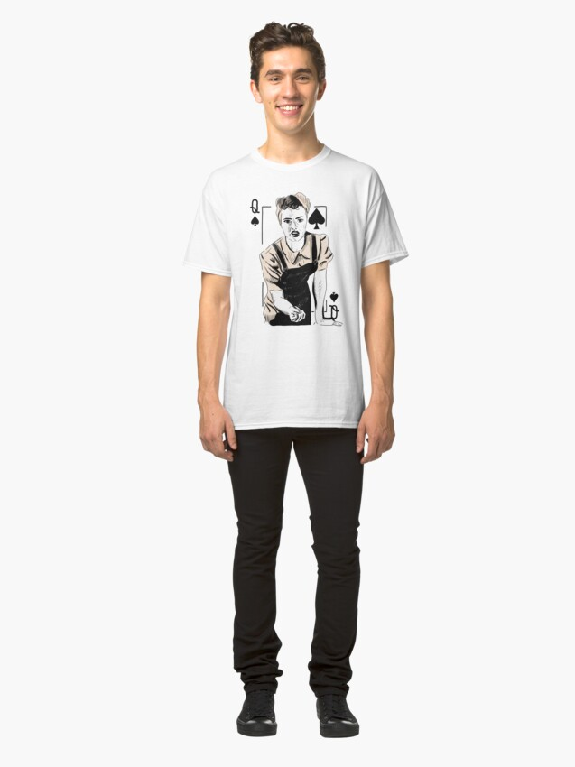 Alternate view of Wartime Land Girl Queen of Spades Classic T-Shirt