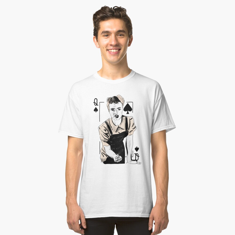 Wartime Land Girl Queen of Spades Classic T-Shirt