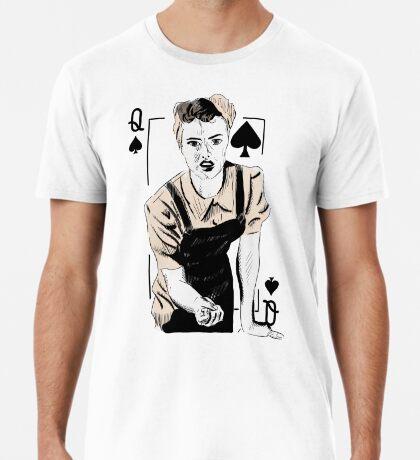 Wartime Land Girl Queen of Spades Premium T-Shirt