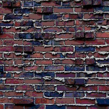 Weeping Mortar with Clinker Brick Watercolor by jherbert101