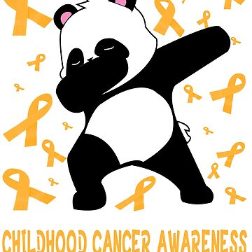 Funny childhood cancer awareness Tee - NEW dabbing panda warrior tee shirt by mirabhd