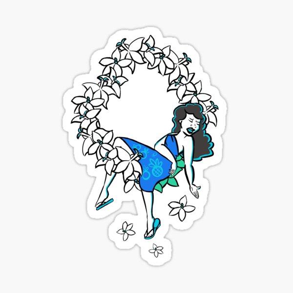 Lei Drape Sticker