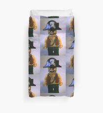 Pirate Captain Minifigure with Flame Torch Duvet Cover