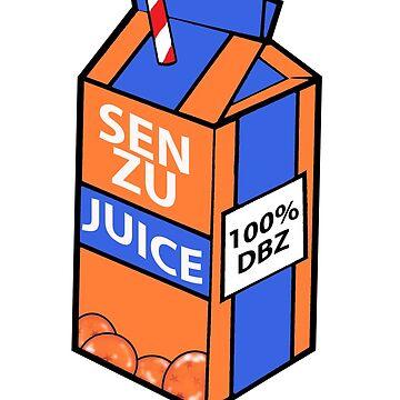 senzu juice drank by flowing