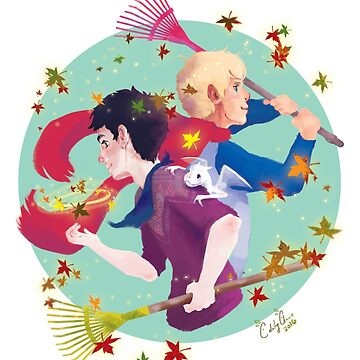 Merthur & Autumn by calamityannie
