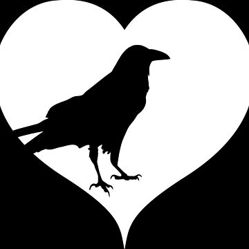 Heart raven crow by RetroFuchs