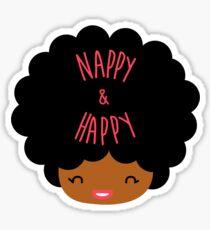 Happy Nappy Afro Sticker