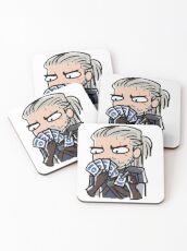 Geralt spielt Gwent Untersetzer