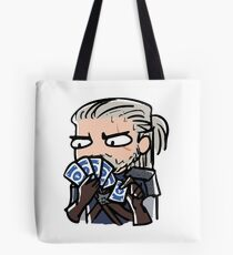 Geralt playing gwent Tote Bag