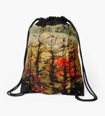 Trees in August  Drawstring Bag