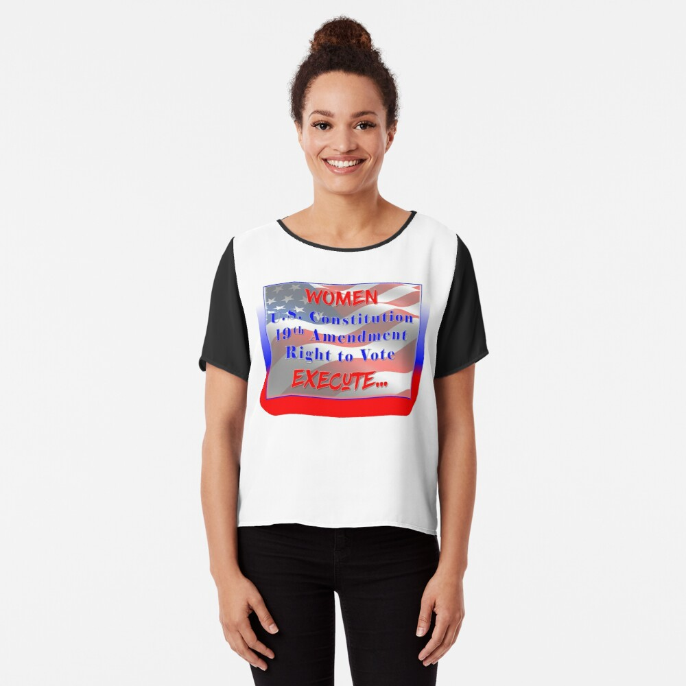 Women,Vote, Power, Change Women's Chiffon Top Front