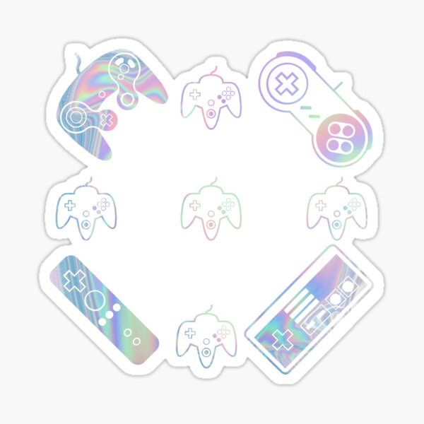 iridescent video games Sticker