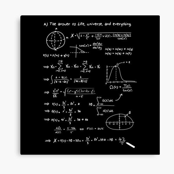 The answer to life, univers, and everything. Canvas Print