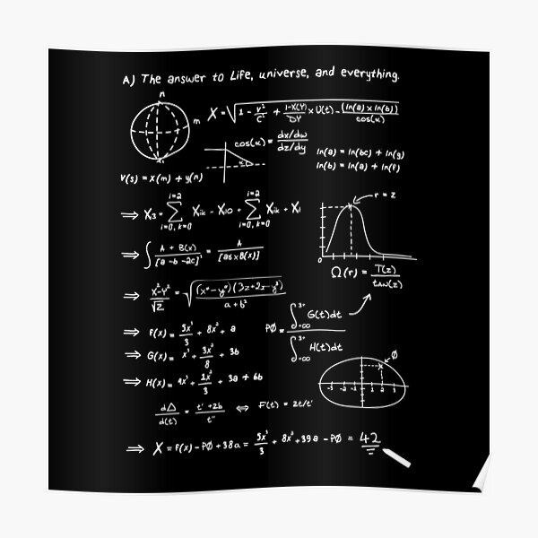 The answer to life, univers, and everything. Poster