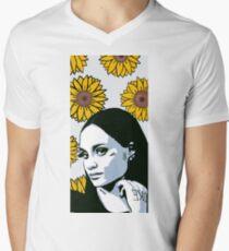 Kehlani / Sunflowers / Pop Art Men's V-Neck T-Shirt