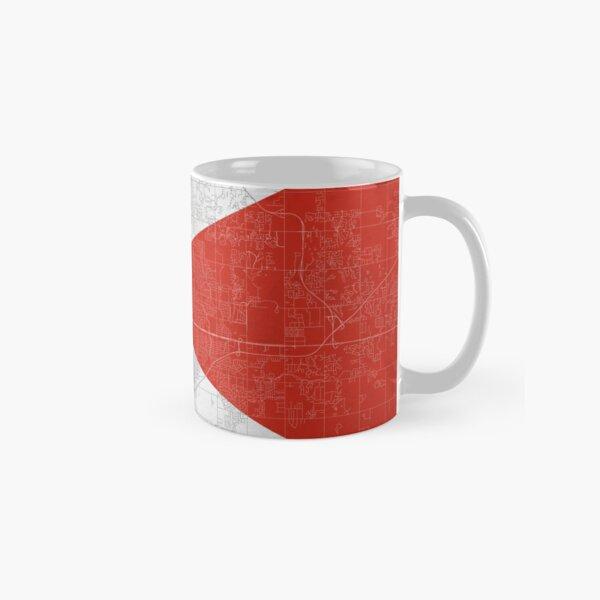 Wichita Flag & Roadmap Classic Mug