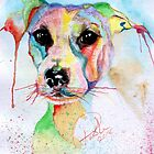 Jack Russel Watercolour Portrait by Pasha by goddamnmedia