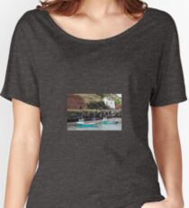 Fishing Boats, Porthgain Harbour, Pembrokeshire Women's Relaxed Fit T-Shirt