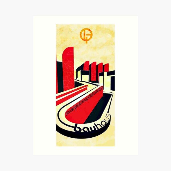 Bauhaus Art...geometric urban center  Art Print