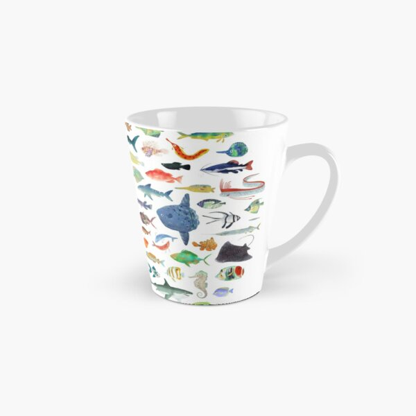 Cent poissons Mug long