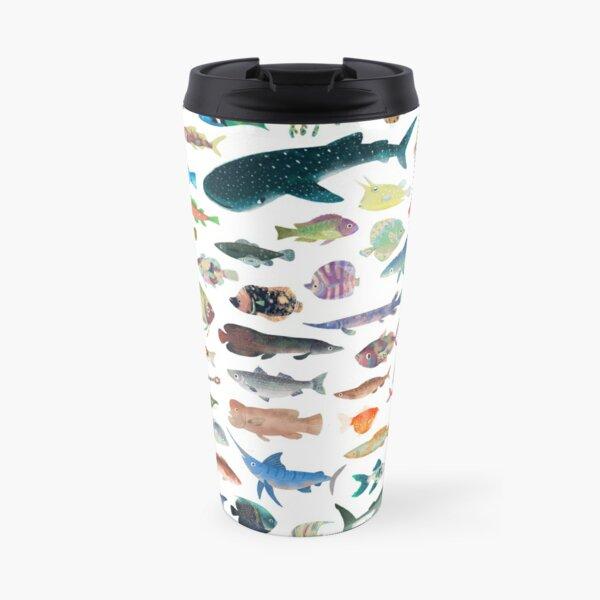 One Hundred Fish Travel Mug
