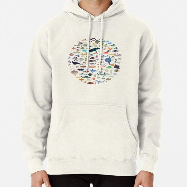 One Hundred Fish Pullover Hoodie