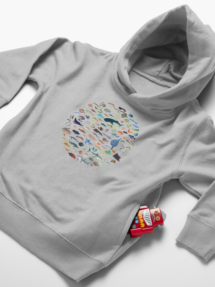 Alternate view of One Hundred Fish Toddler Pullover Hoodie