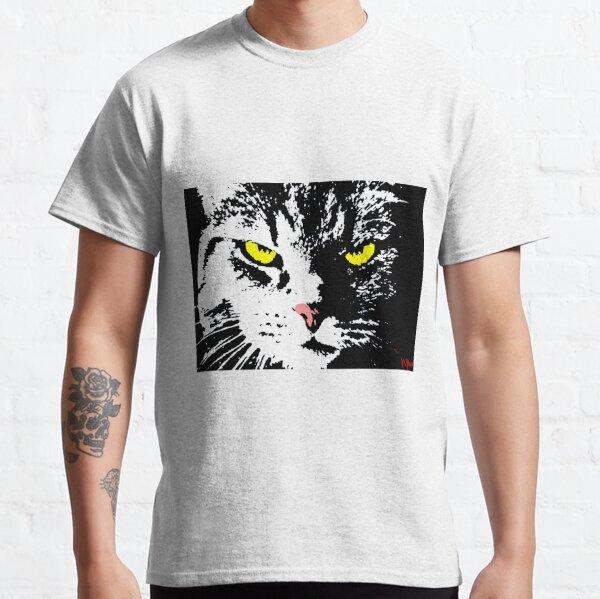 VERGANGENE CAT-POP-KUNST - SCHWARZES WEISSES GELB Classic T-Shirt