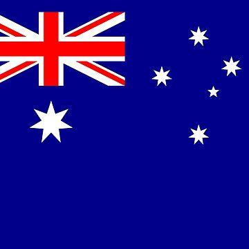 Aussie Flag - Australian Flags Sticker Sheet by stickersandtees