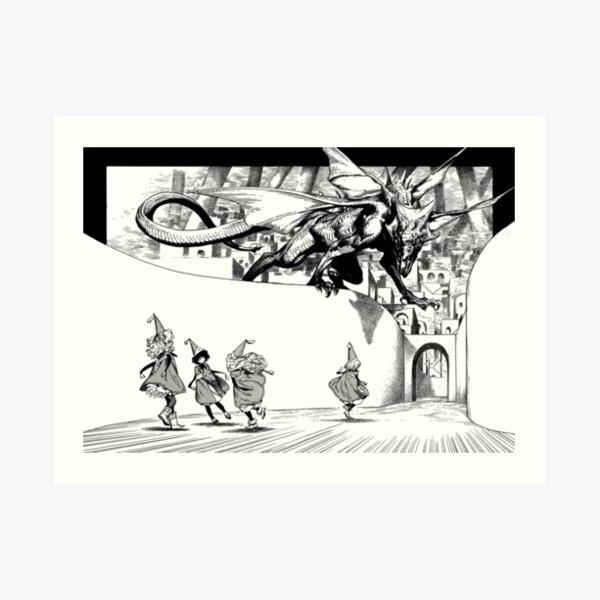 Tongari Boushi no Atelier - Dragon Attack Art Print