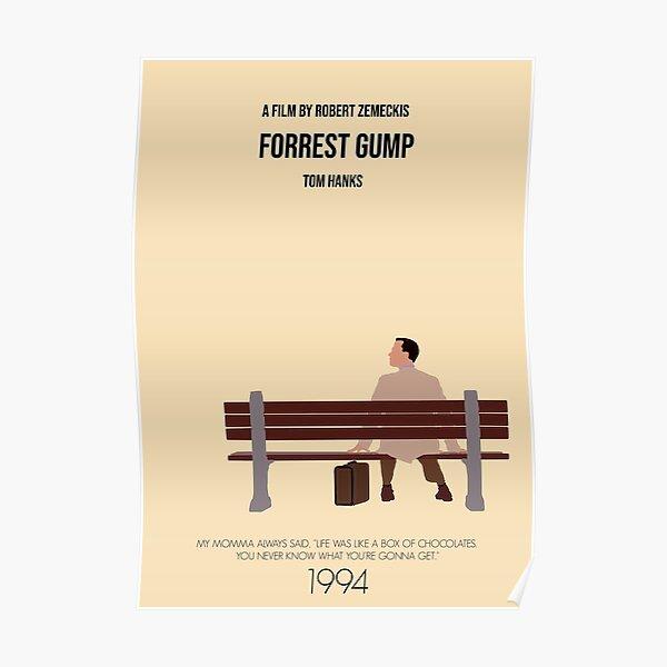 Affiche du film minimaliste Forrest Gump Poster