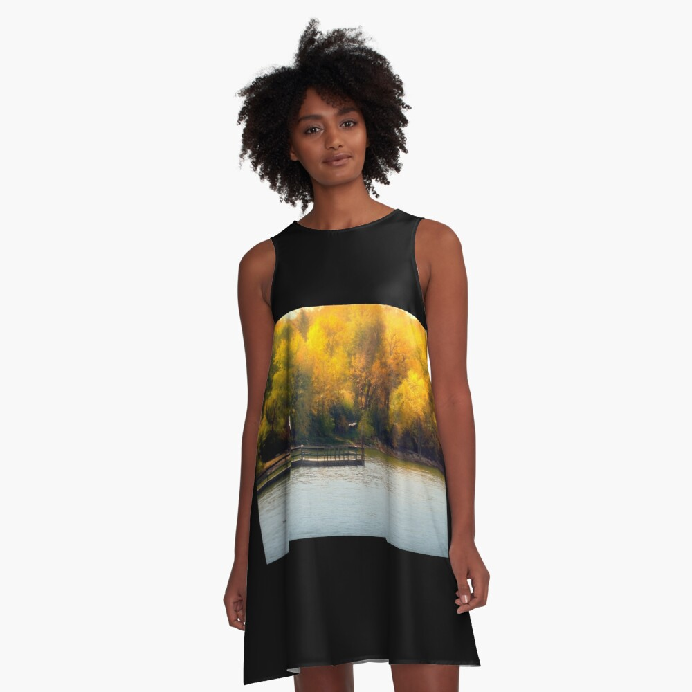The Golden Hour A-Line Dress Front