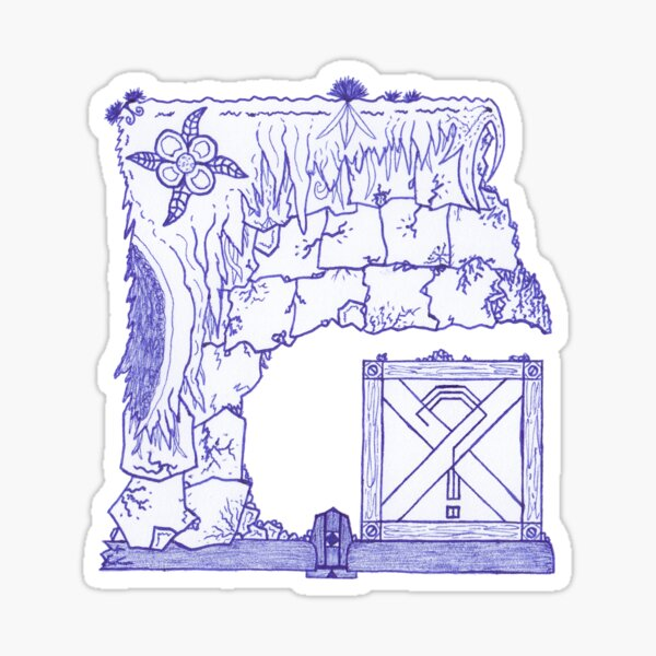 M.I. #29 |☼| Crate Beneath The Crumbling Cliff Sticker