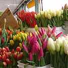 Tulips For Sale - Pike Place Market, Seattle, Washington by AuntDot