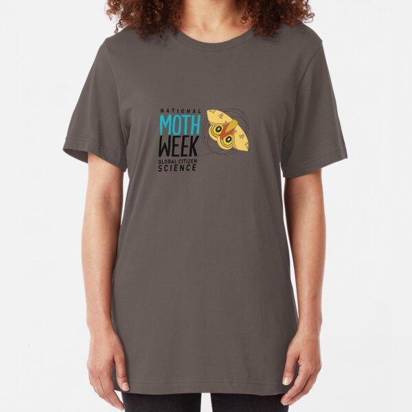 National Moth Week - logo horizontal Slim Fit T-Shirt