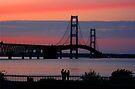 Mackinac Bridge at Sunset by John Carpenter