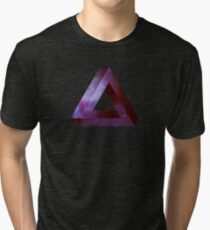 Infinite Penrose Triangle Galaxy Tri-blend T-Shirt