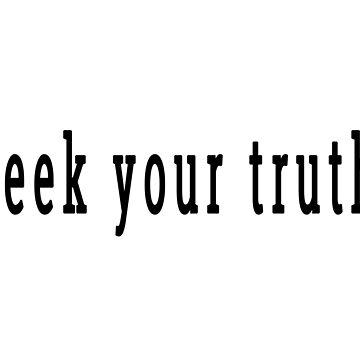 seek your truth by wordznart