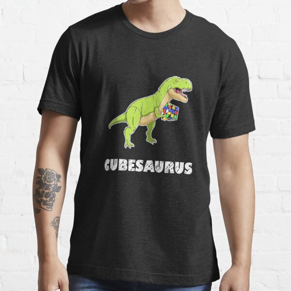 Cubesaurus - cartoon dinosaur Essential T-Shirt