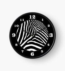 Zebra-Druck Uhr