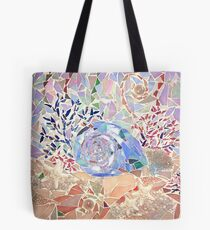 Coral and Seashell Mosaic Tote Bag