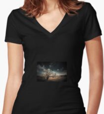 The Magic Tree Women's Fitted V-Neck T-Shirt
